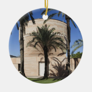 Cymbalista Synagogue Double-Sided Ceramic Round Christmas Ornament