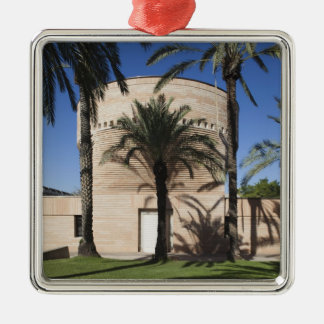 Cymbalista Synagogue Square Metal Christmas Ornament