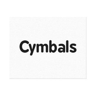 cymbals text black canvas print