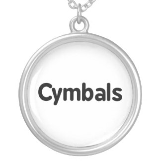 cymbals text black silver plated necklace