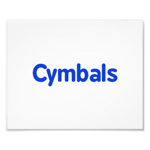 cymbals text blue art photo