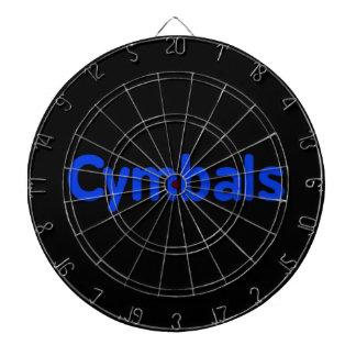 cymbals text blue dartboard
