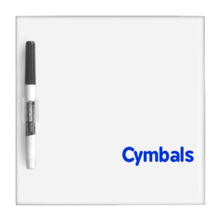 cymbals text blue Dry-Erase board