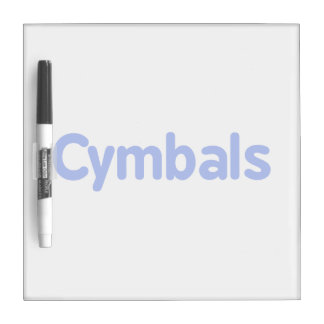 cymbals text blue dry erase board