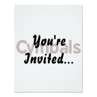 cymbals text brown 4.25x5.5 paper invitation card