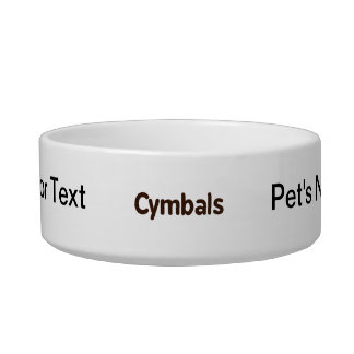 cymbals text brown bowl