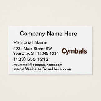 cymbals text brown business card