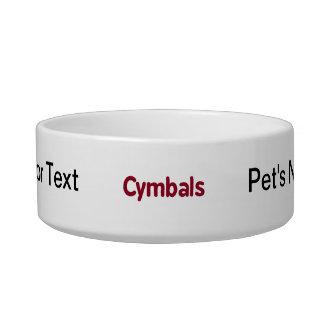 cymbals text burgundy bowl