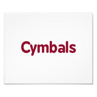cymbals text burgundy photo