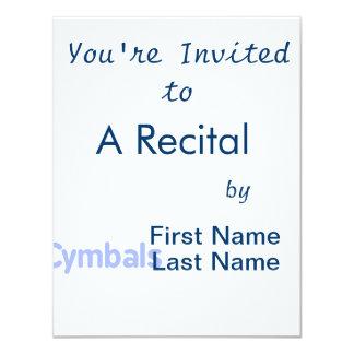 cymbals text cornflower 4.25x5.5 paper invitation card