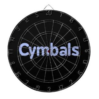 cymbals text cornflower dart board