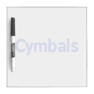 cymbals text cornflower Dry-Erase board