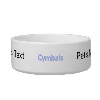 cymbals text cornflower cat water bowls
