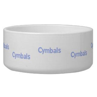 cymbals text cornflower dog food bowl