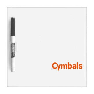 cymbals text d orange dry erase board