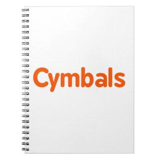 cymbals text d orange notebook