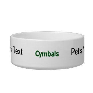 cymbals text green bowl