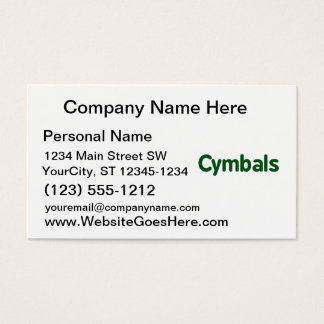 cymbals text green business card
