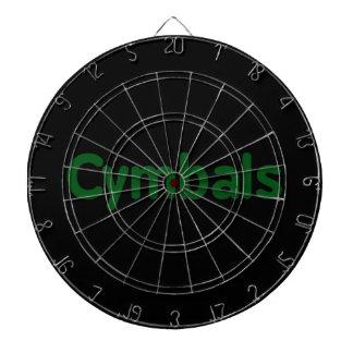 cymbals text green dartboard