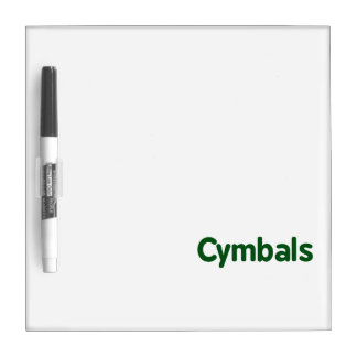 cymbals text green Dry-Erase board