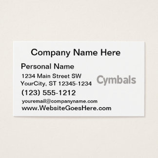 cymbals text grey business card