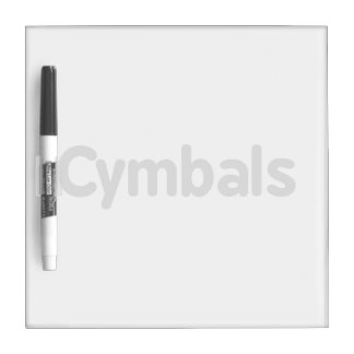 cymbals text grey Dry-Erase board