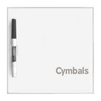 cymbals text grey dry erase board