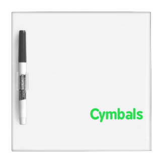 cymbals text mint dry erase board