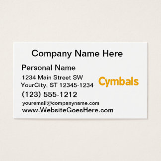 cymbals text orange business card