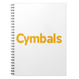cymbals text orange spiral notebook