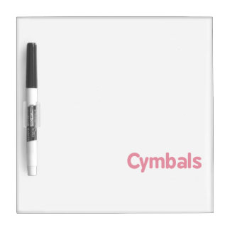 cymbals text pink dry erase board