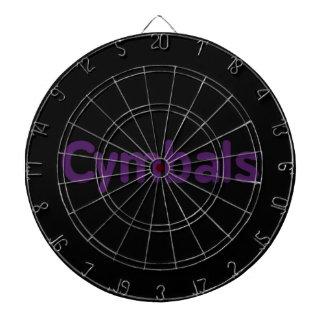 cymbals text purple dart board