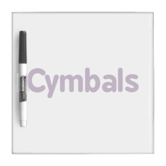 cymbals text purple dry erase board