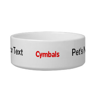 cymbals text red bowl