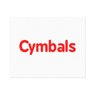 cymbals text red canvas print