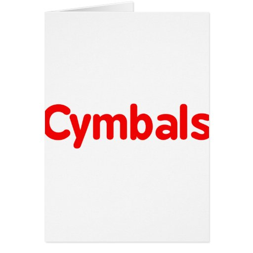 cymbals text red cards