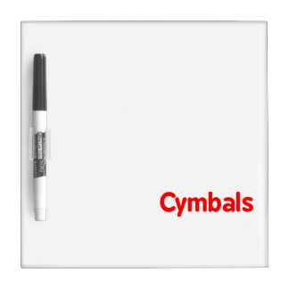 cymbals text red dry erase board