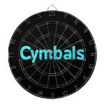cymbals text teal dart board