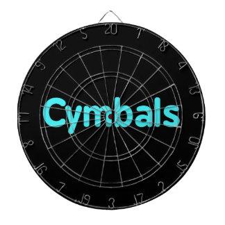 cymbals text teal dartboard