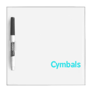 cymbals text teal dry erase board