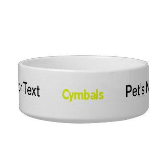 cymbals text yellow bowl