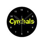 cymbals text yellow clocks