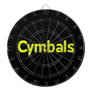 cymbals text yellow dartboard