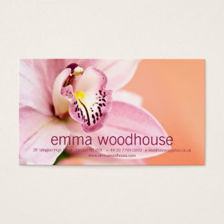 Cymbidium Orchid Business Card
