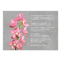 Cymbidium Orchid Wedding Invitations