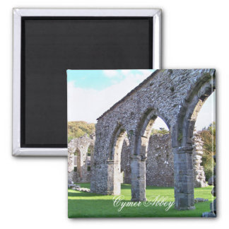 CYMER ABBEY WALES 2 INCH SQUARE MAGNET