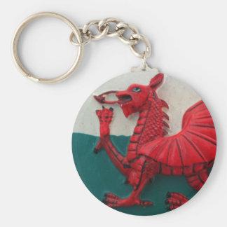 Cymru Am Byth Basic Round Button Keychain