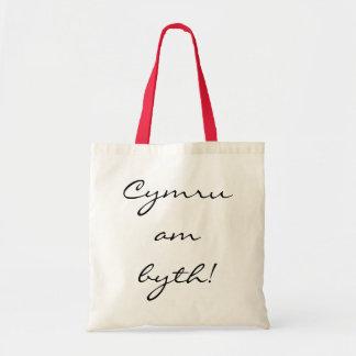 Cymru am byth! canvas tote bag