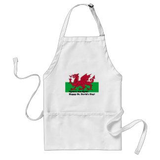 Cymru Am Byth - Happy St. David's Day Adult Apron