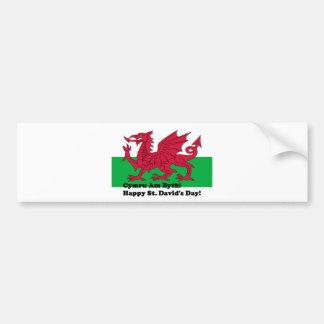 Cymru Am Byth - Happy St. David's Day Bumper Sticker